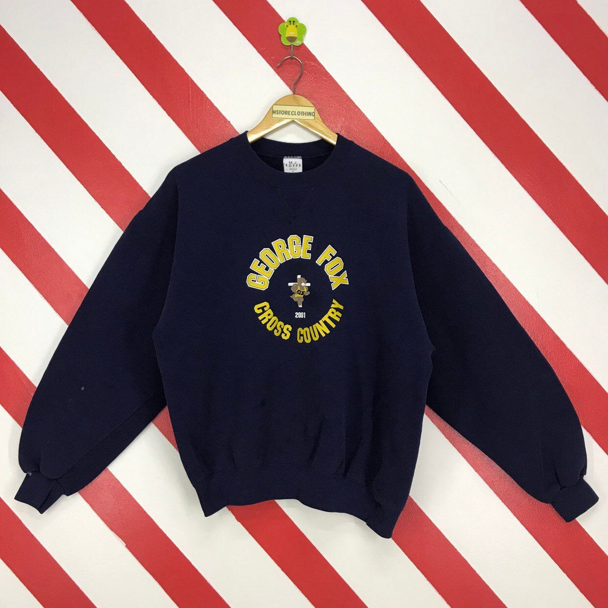 Excited To Share This Item From My Etsy Shop Vintage 90s George Fox Sweatshirt Crewneck George Fox University Sweater Sweatshirts Printed Jumpers Print Logo