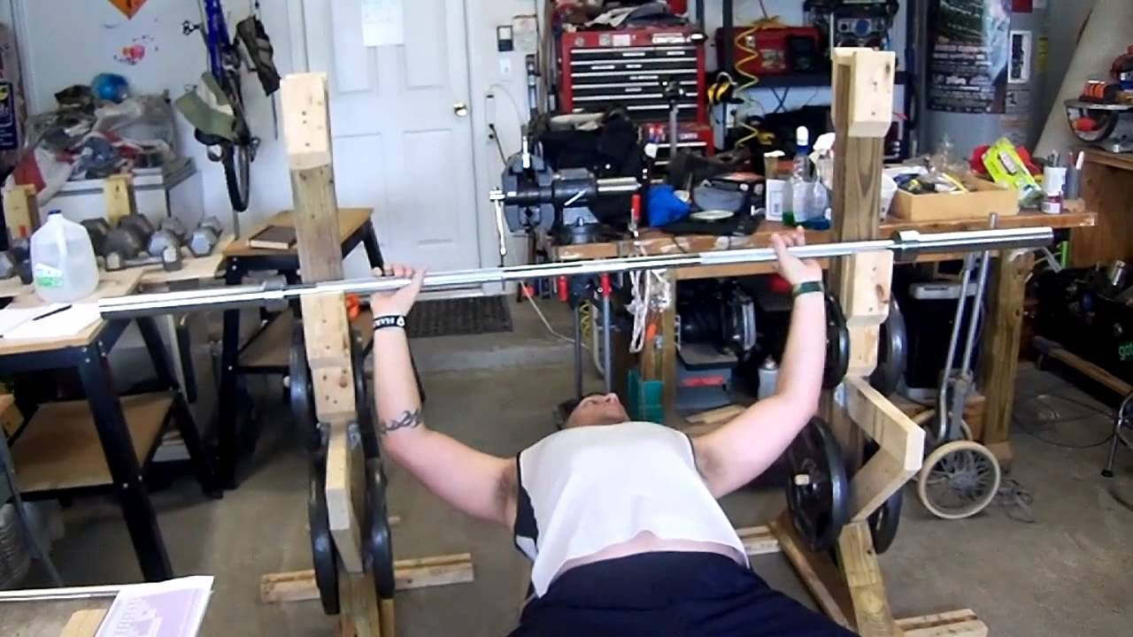 Homemade Bench Press and Squat Rack Bench press, Squat