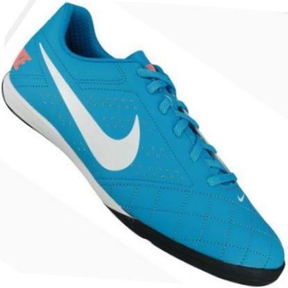 812ad236fa Chuteira Nike Beco 2 Indoor Futsal Masculina Azul   Branco