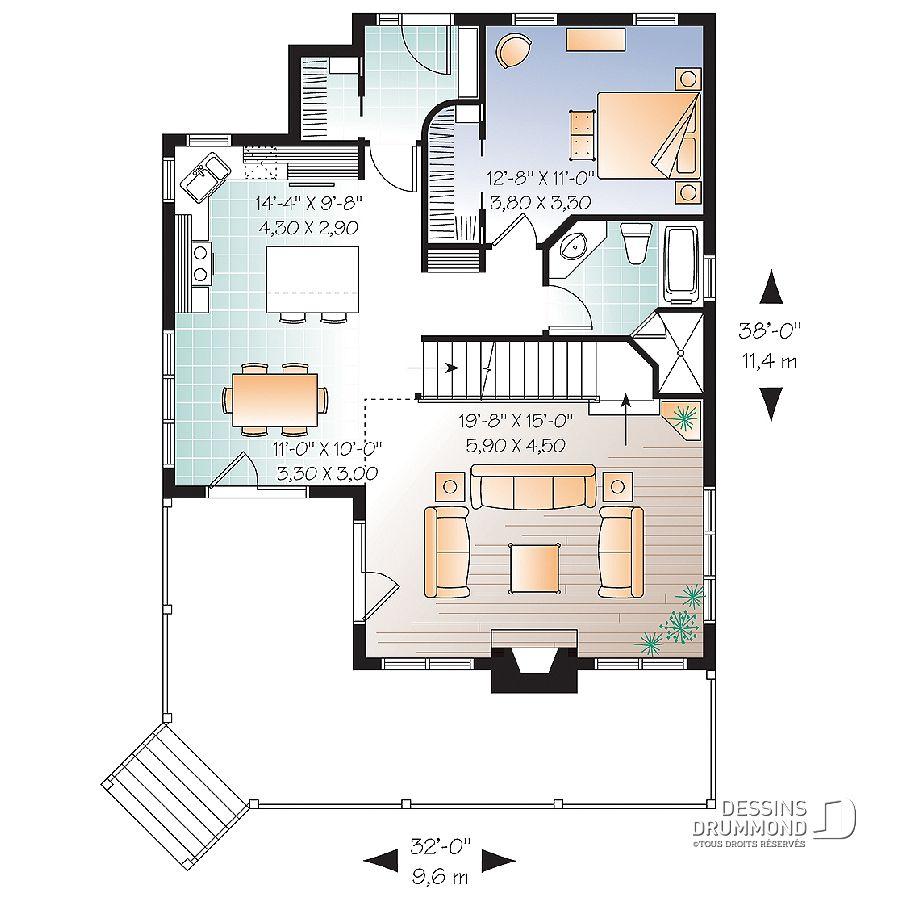 Plan De Maison Unifamiliale Jonquille No 3943 In 2019