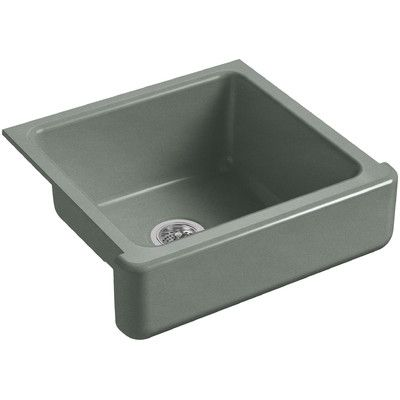 Kohler Whitehaven Self Trimming 23 1 2 L X 21 9 16 W X 9 5 8 Under Mount Single Bowl Sink With Short Apron Cast Iron Kitchen Sinks Single Bowl Kitchen Sink Single Bowl Sink