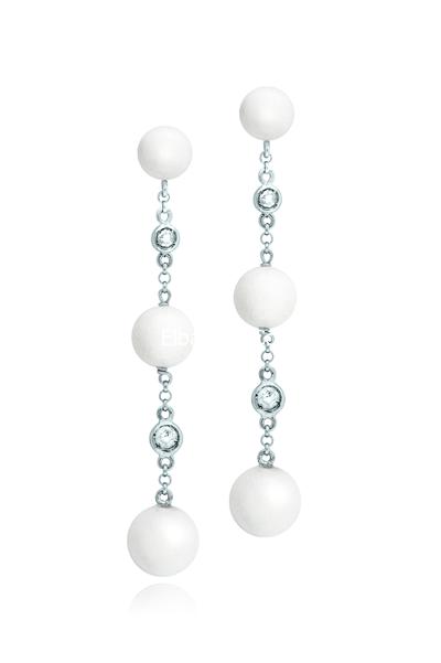 حلقان للاذن للعروس اكسسوارات حلقان 2014 اكسسوارات حلقان فصوص صغيرة اكسسوارات بنوته أزياء بنوته بنوته كافيه Jewelry Bridal Jewelry Pearl Necklace