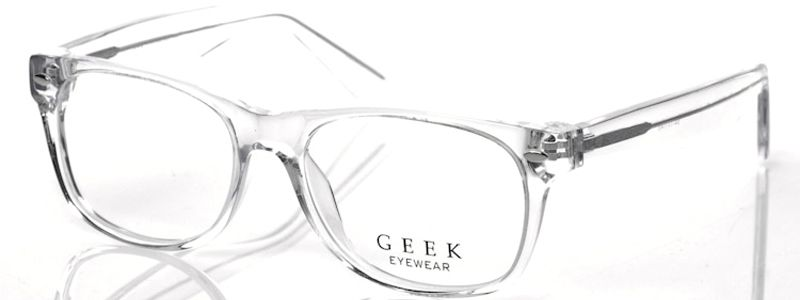clear frame geek rad09 glasses