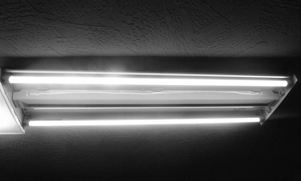 Detailed instructions on retrofitting existing fluorescent