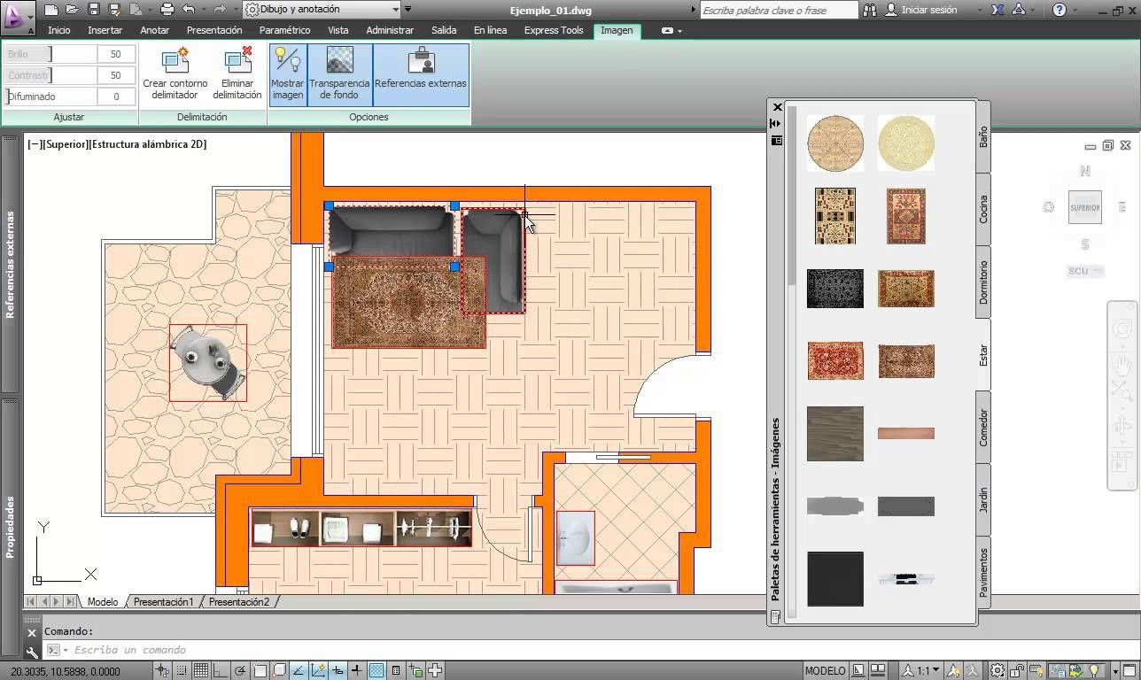Ambientacion plantas arquitectonicas desde autocad 4 for Planos de arquitectura