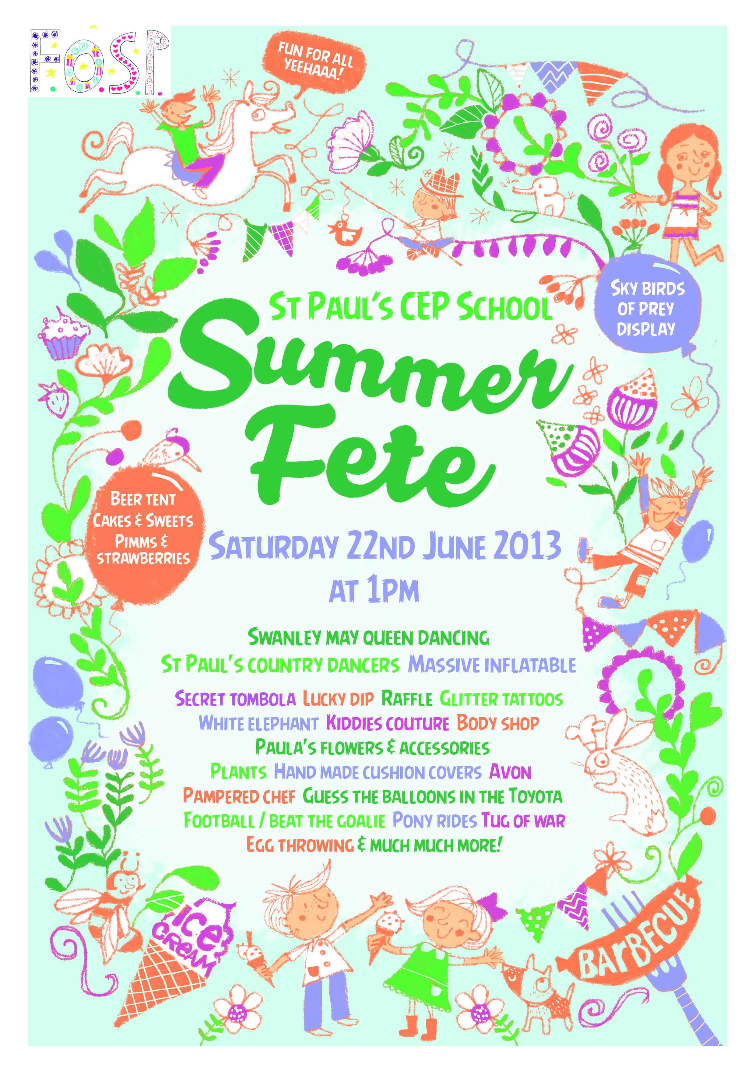 school summer fair poster