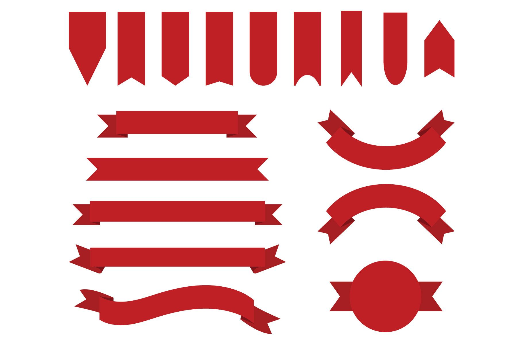 Red Badge Banner Clip Art Set Graphic By Running With Foxes Creative Fabrica