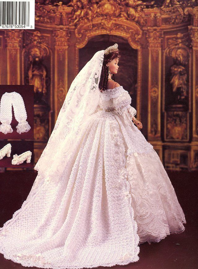 1840 Queen Victoria's Wedding Gown for Barbie Paradise 43