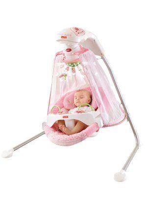 Fisher-Price Papasan Cradle Swing, Butterfly Garde...