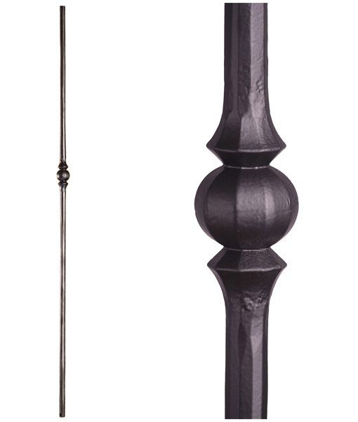 Best 2 10 2 Single Sphere Tuscan Round Hammered Iron Baluster 400 x 300