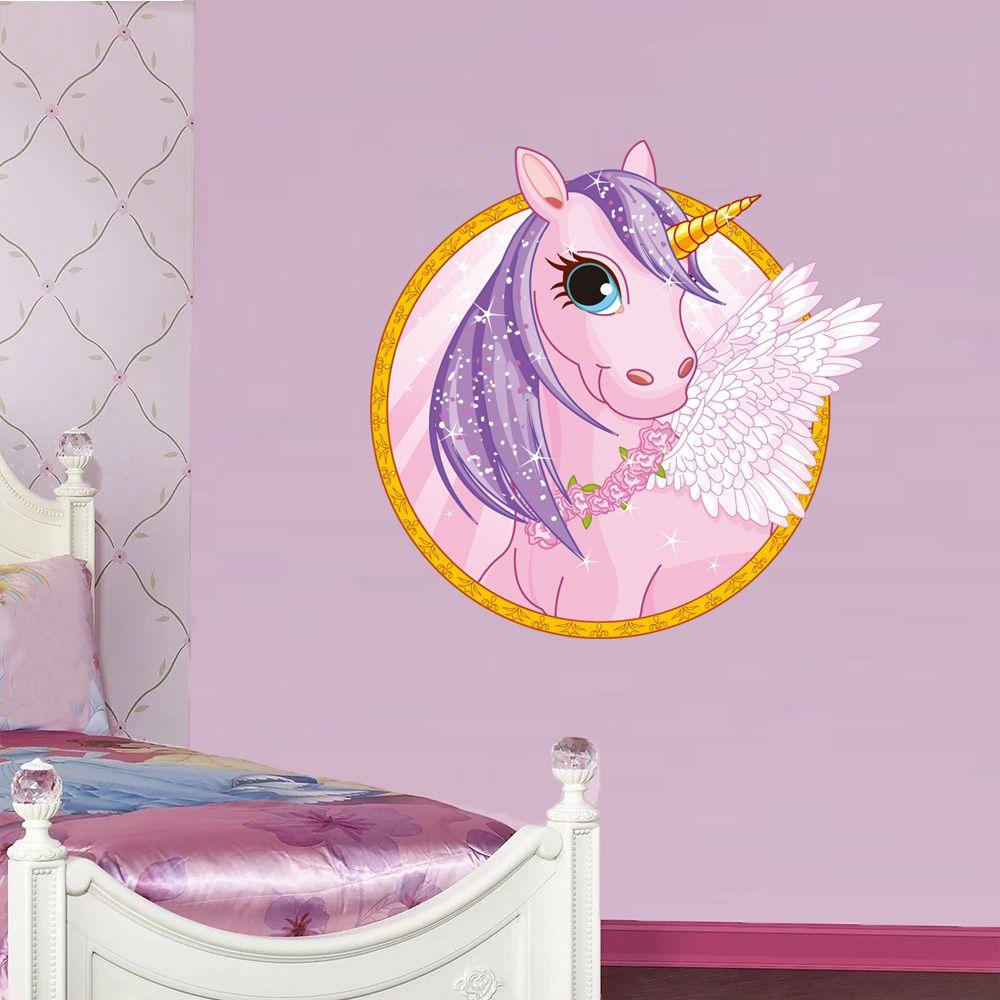 Cute cartoon unicorn wall stickers unicorn wall decal