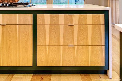 book matched hickory cabinet drawer fronts and cabinet doors contemporary kitchen bath ideas. Black Bedroom Furniture Sets. Home Design Ideas