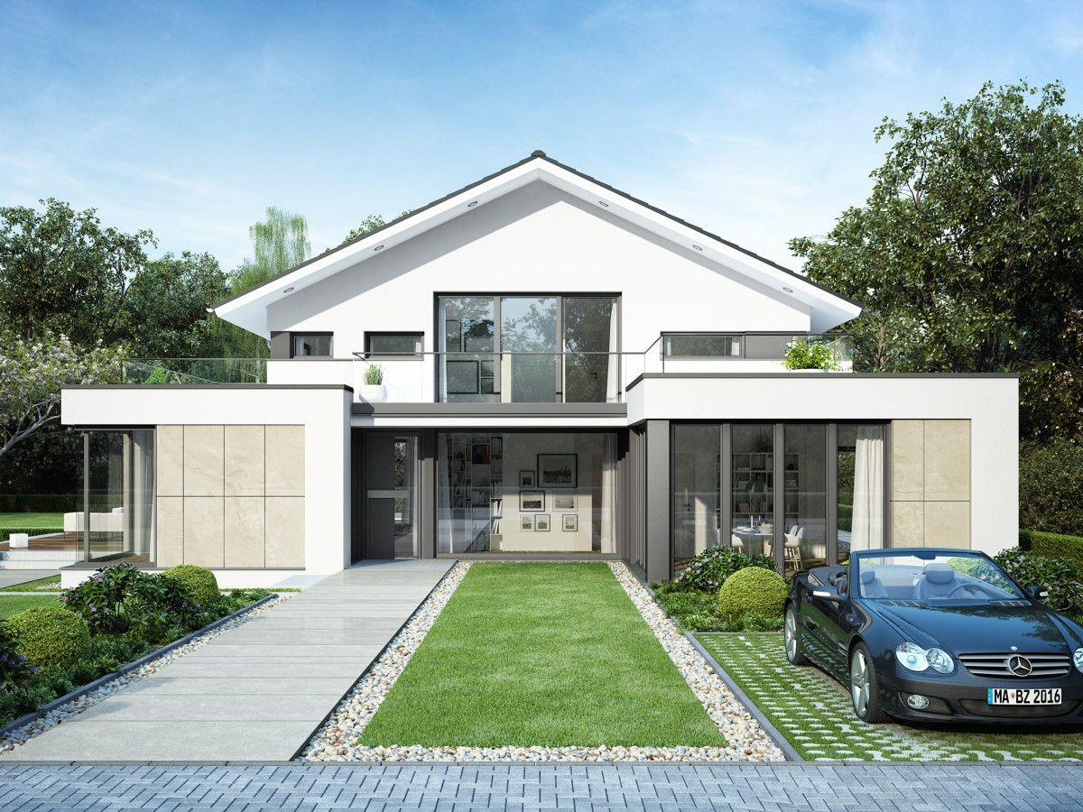 Einfamilienhaus Mit Modernem Flachdach Anbau - Haus Concept-M 211