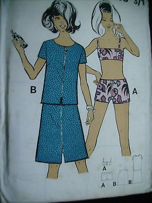 Vintage Large Ladies Beachwear, shorts suntop skirt top sewing ...