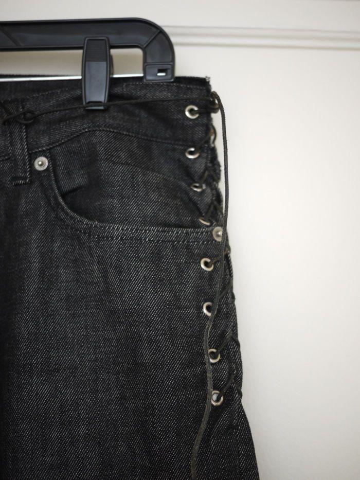 OG Helmut Lang Bondage Denim Jeans 32W Italy Black | eBay