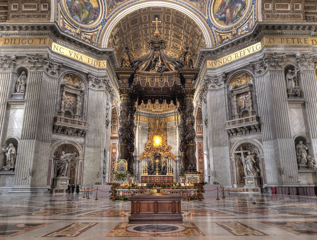 The Bronze Canopy inside St. Peter's Basilica, Vatican