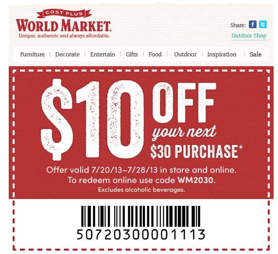 10 off world market coupon code