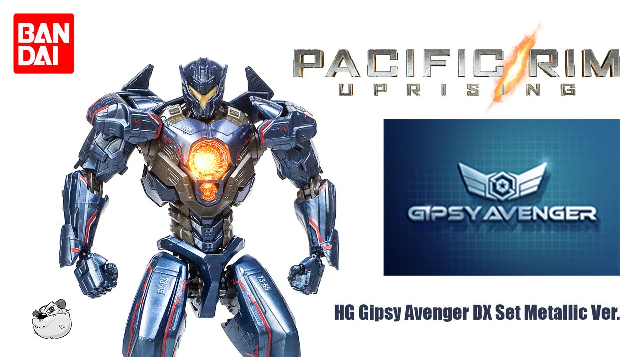 Bandai Pacific Rim 2 Gipsy Avenger Metallic Version Hg Showcase With Lincoln Wright Paint On Plastic Pacific Rim Avengers Gipsy