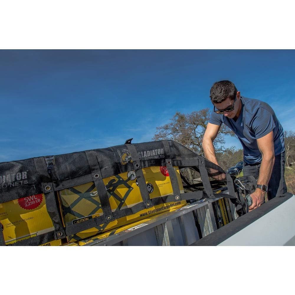 GLADIATOR Cargo Nets 4.75 ft. x 6 ft. Small HeavyDuty
