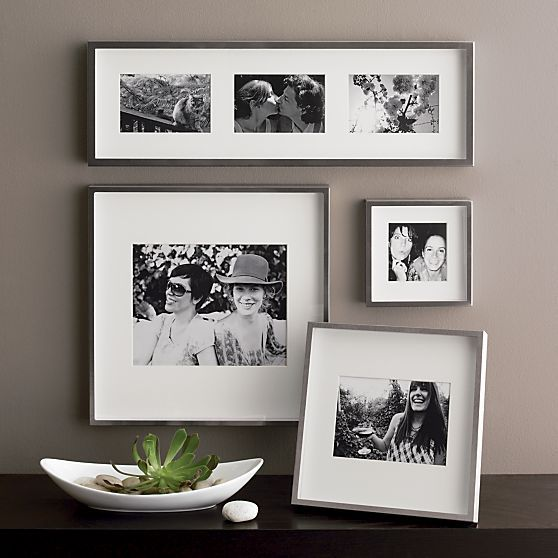 Brushed Silver 5x7 Wall Frame Reviews Crate And Barrel Frames On Wall Silver Walls Wall Frames