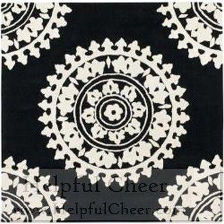 Safavieh Handmade Soho Chrono Black Ivory N Z Wool Rug 6 x27 Square - at Oversto