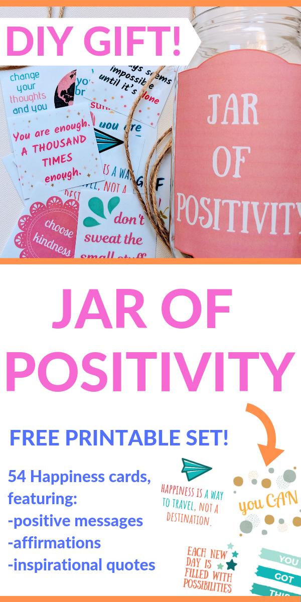 FREE Printable Positivity Cards & Jar of Positivity DIY