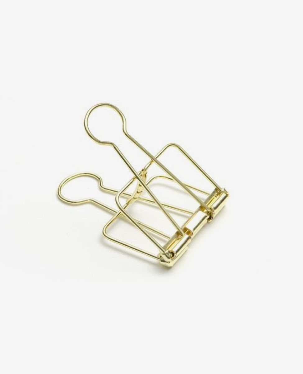 Gold Office Accessories, Binder Clips