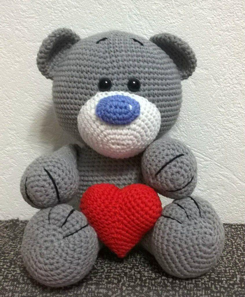 Ami-Domi del terreno: amigurumi tejer: Amor del oso | tejido ...