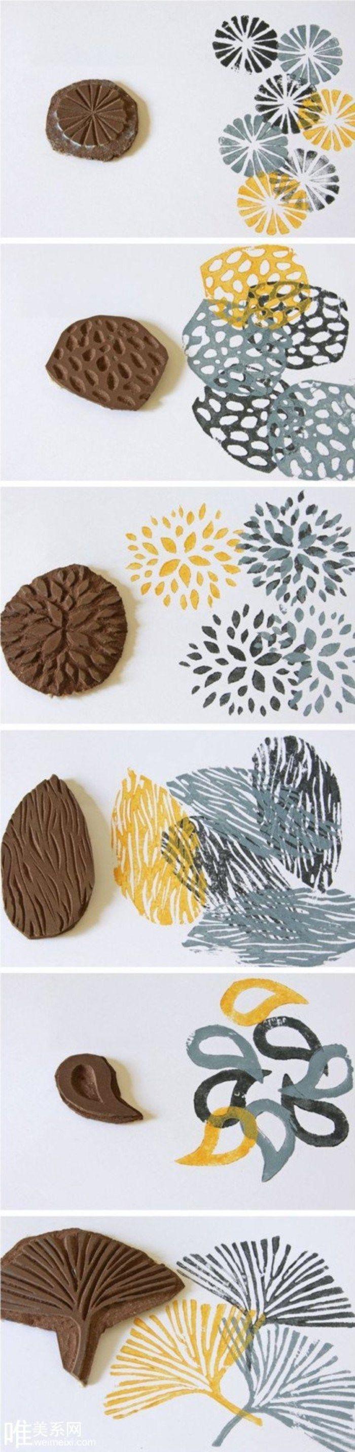 Творчество печати из  резиновой или полимерной глины