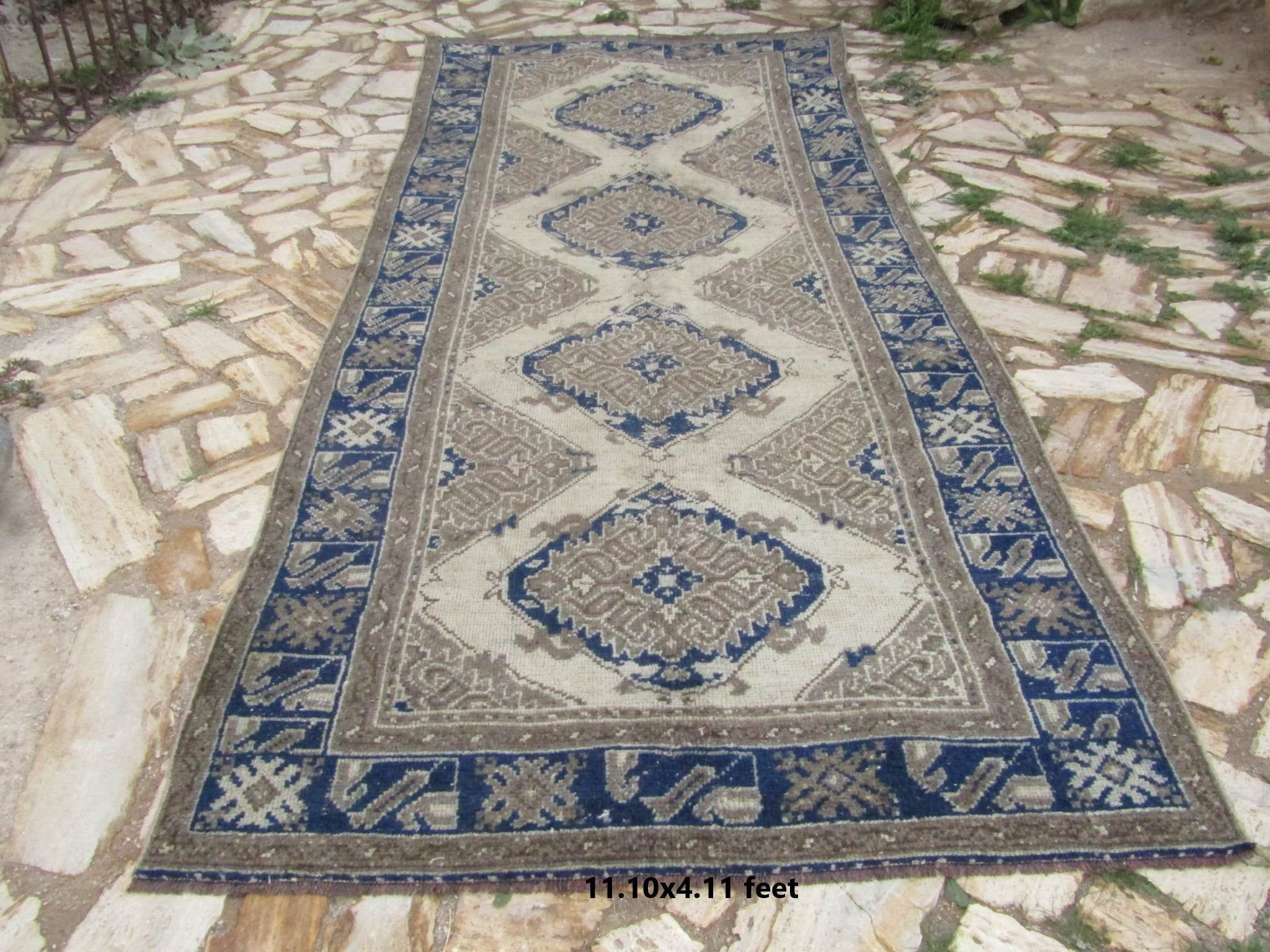 Extra Long Runner Rug 11 10x4 11 Ft Vintage Hallway Rug Oushak Rug Hallway Rug Entry Rug Carpet R In 2020 Long Runner Rugs Extra Long Runner Rug Rugs On Carpet