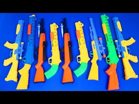 Guns Box Toys Military & police Toys–(Toys videos for kids My Massive Nerf  Gun