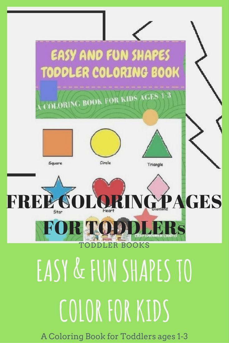 Free Easy Toddler Coloring Pages | Best Craft Patterns | Pinterest ...