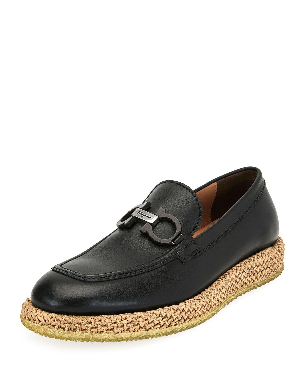 294bf3421bb SALVATORE FERRAGAMO MEN S ARINOS BIT LOAFERS ON ROPE SOLE.   salvatoreferragamo  shoes