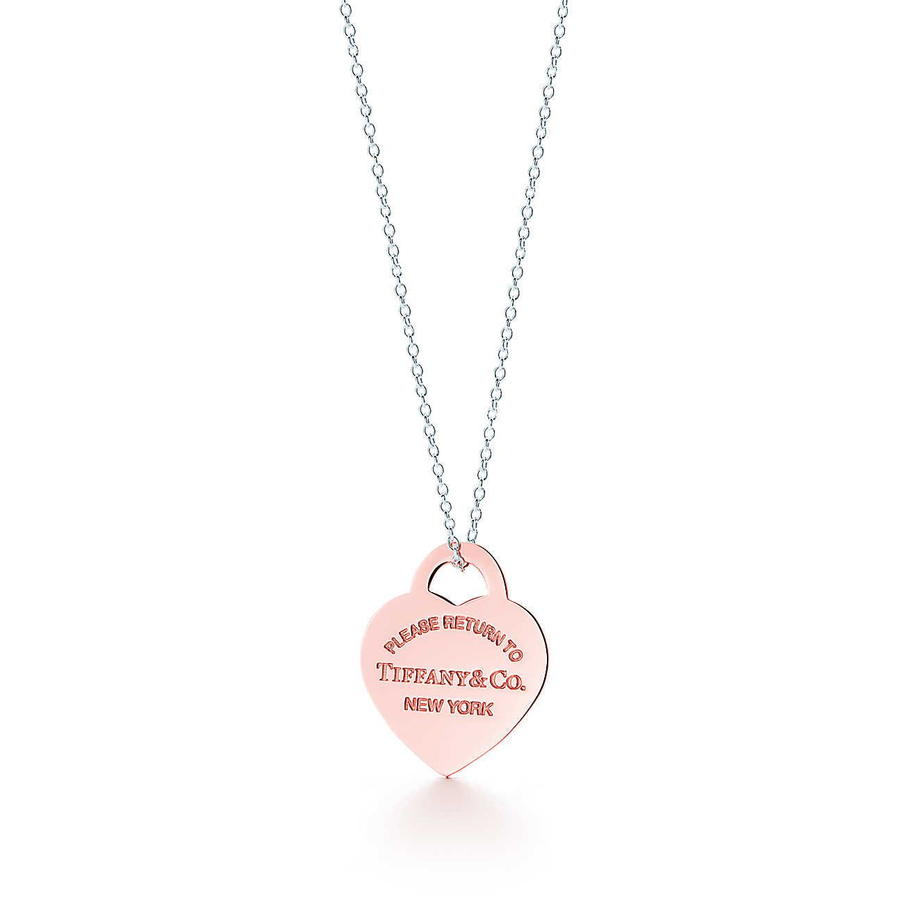 87dd5ec49 Return to Tiffany®:Heart Tag Pendant // RUBEDO® metal and sterling silver
