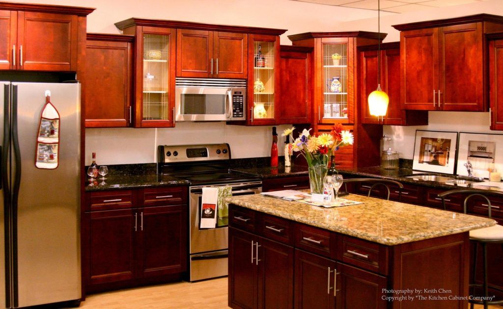 Red Cherry Kitchen Cabinets