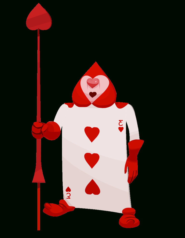 Alice In Wonderland Cards Clipart Intended For Alice In Wonderland Card Soldiers Template In 2020 Alice In Wonderland Man Clipart Queen Of Hearts Card