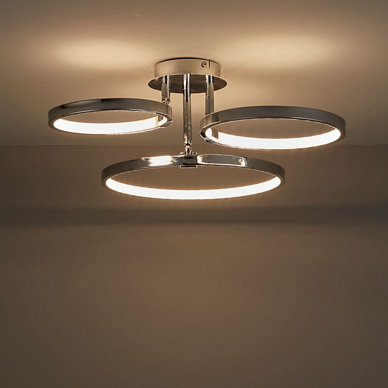 The Annellus Ceiling Light Has Modern Contemporary Design Featuring 3 Adjustable Loops The Led Ceiling Lights Ceiling Light Fittings Modern Led Ceiling Lights
