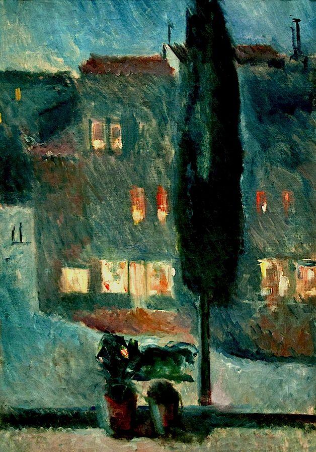bofransson:  Cypress in Moonlight Edvard Munch - 1892