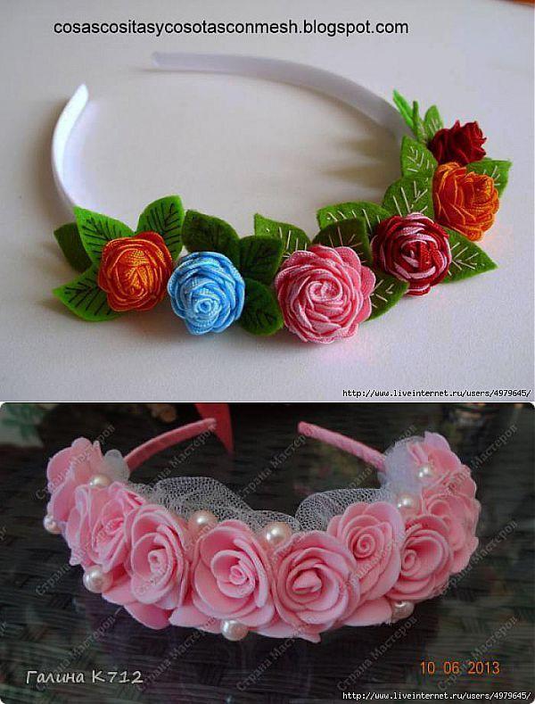 HEND de diseño - Las vendas para las muchachas con flores pequeñas.
