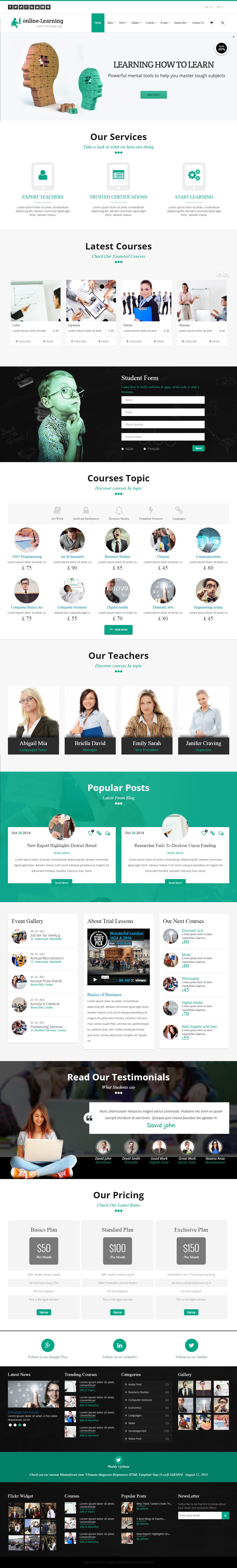 Iknow Premium Responsive Learning Management System Wordpress Theme