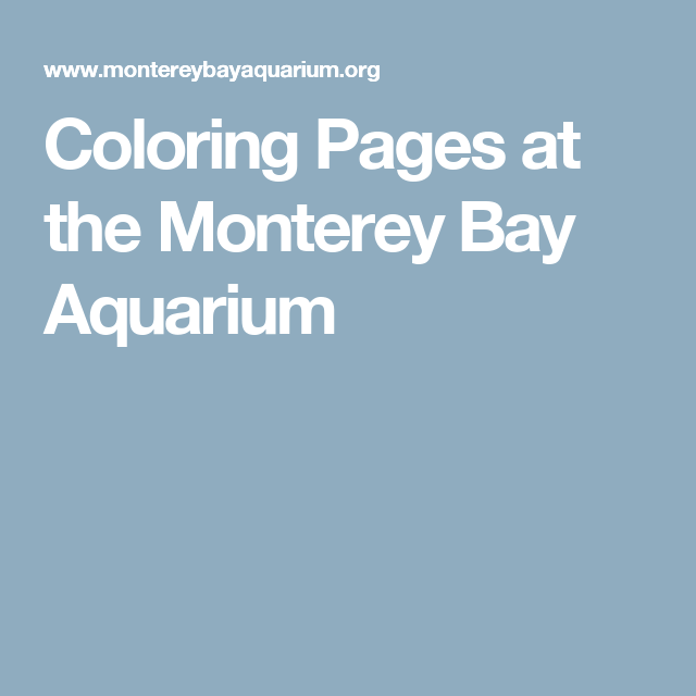 Coloring Pages at the Monterey Bay Aquarium   kids luau/under the ...