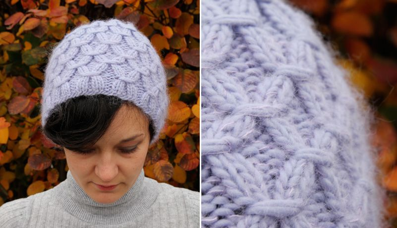 Waffel hat, yes, it is spelled this way, complete with free directions. Very interesting stitch.
