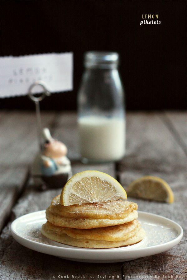 Lemon Pikelets - Soft and fluffy mini-pancakes.