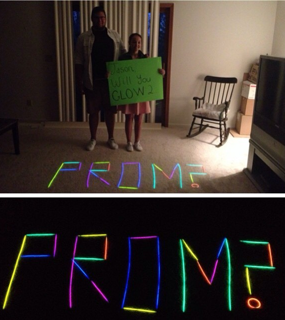 Will you GLOW to prom with me?! #promposal