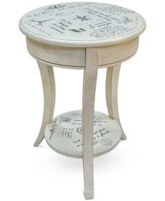 Carolina Classics Carrie Vintage French Script Accent Table, Direct Ships for just $9.95