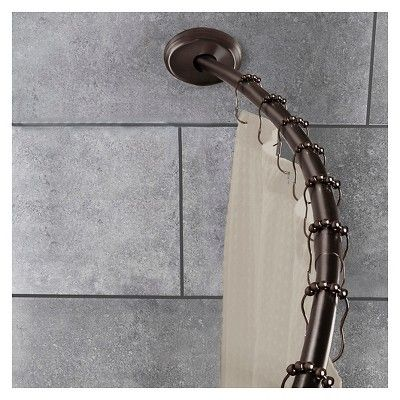 2 Way Mount Curved Shower Rod Oil Rubbed Bronze