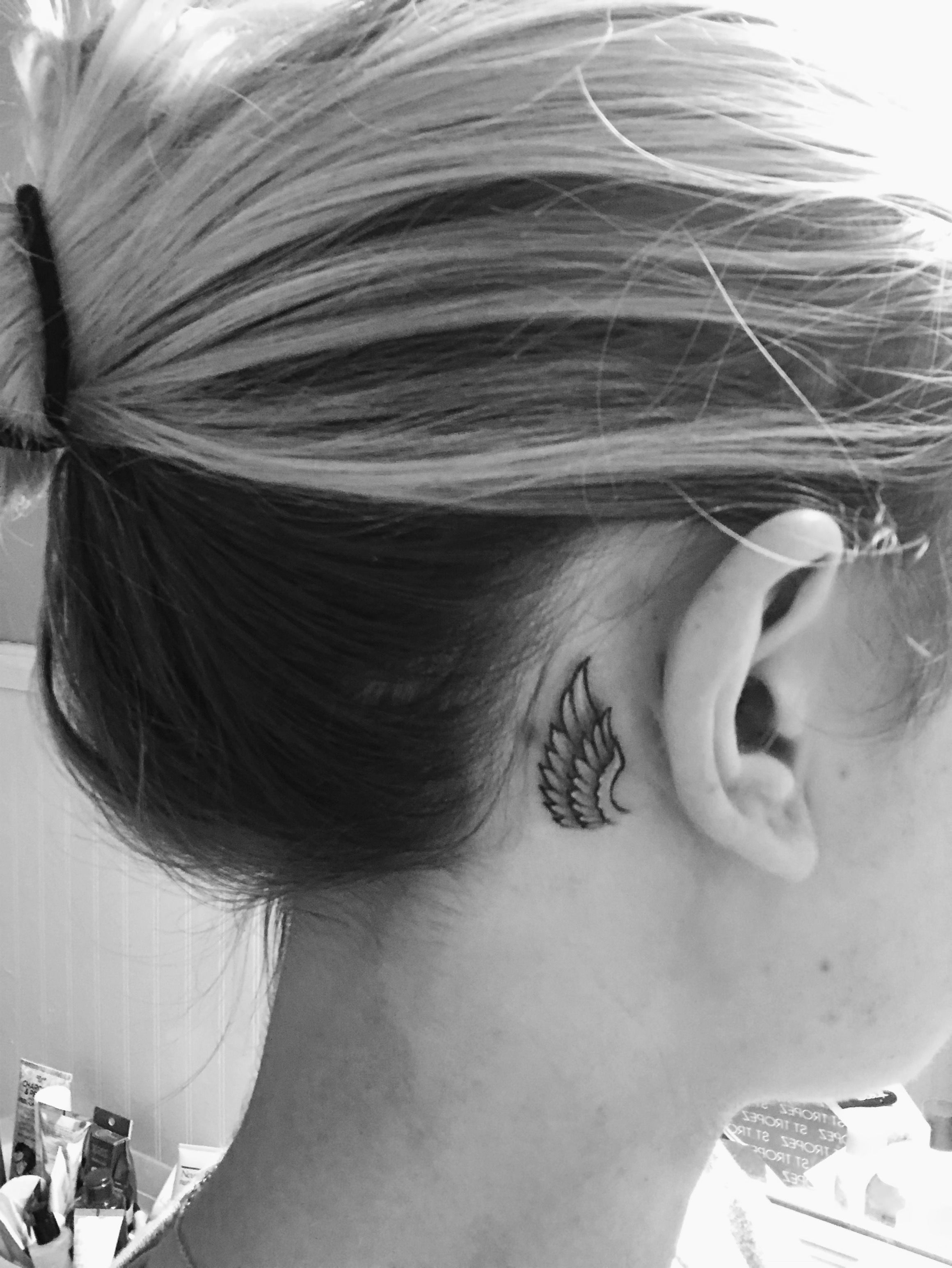Pin By Studioeight On Tats Behind Ear Tattoo Small Behind Ear Tattoos Ear Tattoo