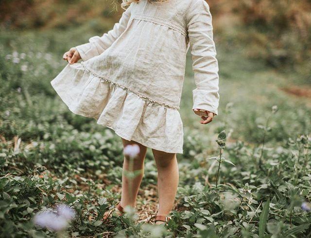 Stunning Harriett in our ' Elissa ' raw linen dress 🍃  Photo by the lovely Beth @bethphilippidis
