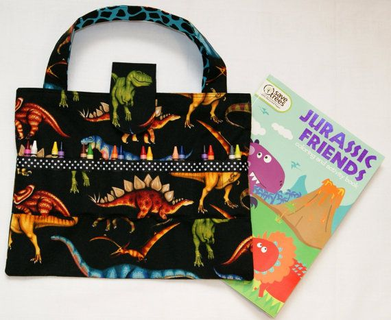 Dinosaurs Crayon Holder Coloring Book by ToteworthyDesigns on Etsy ...