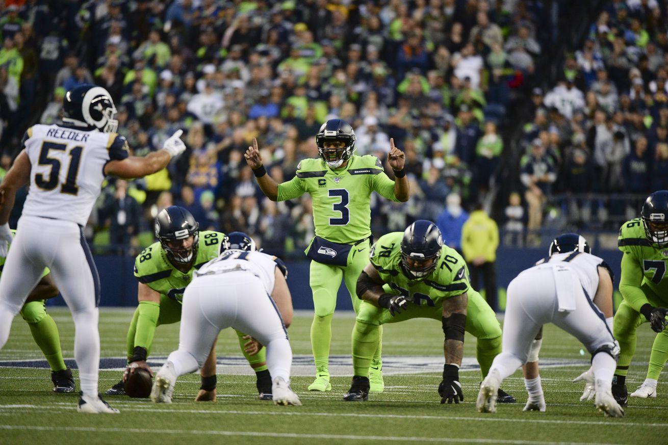 Sunday Night Football Seattle Seahawks Los Angeles Rams